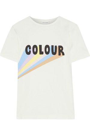 Chinti & Parker Women Short Sleeve - Woman Printed Cotton-jersey T-shirt Off- Size L