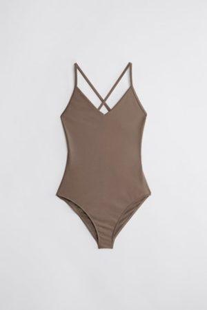 Filippa K Women Swimsuits - Shiny Cross Back Swimsuit