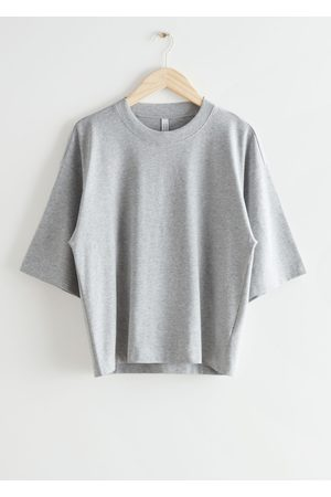 & OTHER STORIES Boxy Crewneck T-Shirt - Grey
