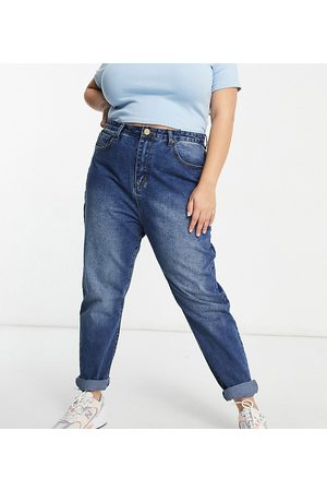 Yours Mom jeans in blue-Blues