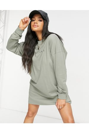 The Couture Club Archive logo oversized long sleeve T-shirt dress