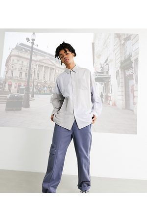 COLLUSION Straight leg pants in blue twill-Blues