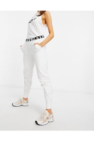 DKNY Slim fit sweatpants in white