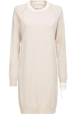Maison Margiela Cotton Blend Crewneck Knit Mini Dress