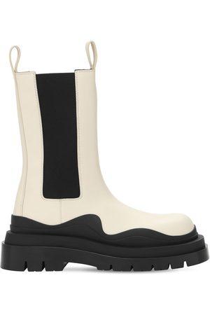 Bottega Veneta 50mm Bv Tire Leather Beatle Boots