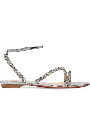 Christian Louboutin Women Sandals - 10mm Mafaldina Metallic Leather Sandals
