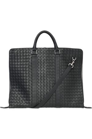 Bottega Veneta Hydrology Intreccio Leather Suit Bag