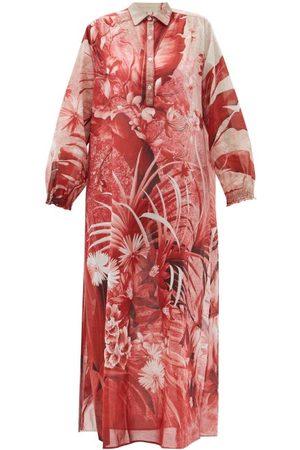 F.R.S For Restless Sleepers Liriope Jungle-print Cotton-muslin Kaftan - Womens - Multi