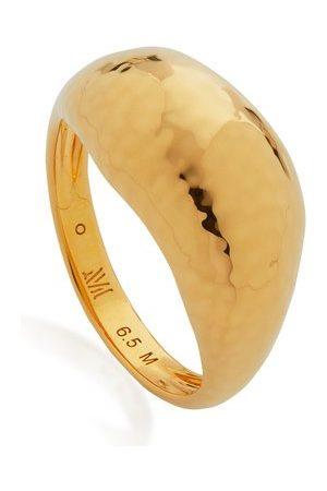 Monica Vinader Women Rings - Gold Deia Domed Ring