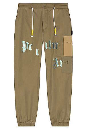 Palm Angels Military Cargo Pant in Olive