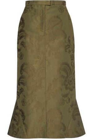 Erdem Felton Floral-jacquard Cotton-twill Skirt - Womens