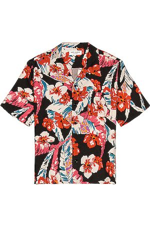 Saint Laurent Men Short sleeves - Hawaii Shirt in Red