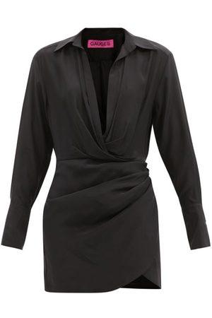 GAUGE81 Women Party Dresses - Naha Draped Silk Mini Dress - Womens