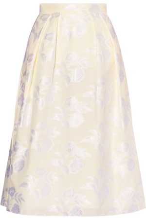 Erdem Women Midi Skirts - Reed A-line Floral Fil-coupé Skirt - Womens - Ivory