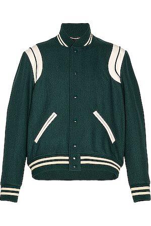 Saint Laurent Bomber Jacket in Green