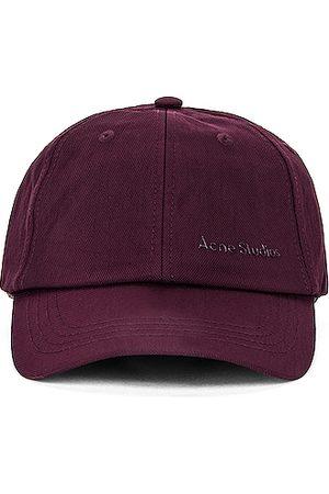 Acne Studios Baseball Hat in Burgundy