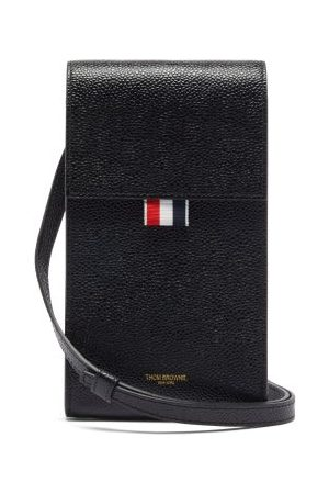 Thom Browne Tricolour-stripe Pebbled-leather Cross-body Bag - Mens