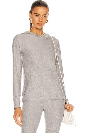 Beyond Yoga Women Hoodies - Day And Night Hoodie Sweatshirt in Light Grey