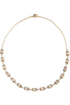 NOOR FARES Kamala Diamond, Moonstone & 18kt Necklace - Womens - Multi