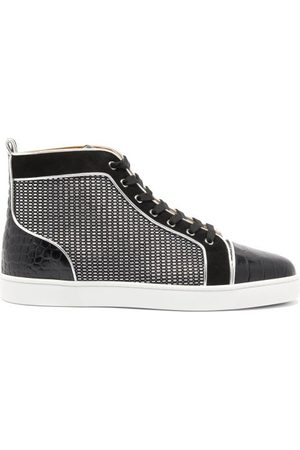 Christian Louboutin Louis Orlato Suede-trim Canvas High-top Trainers - Mens