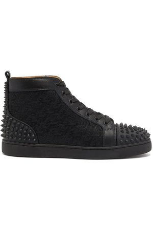 Christian Louboutin Men Sneakers - Lou Spikes Canvas High-top Trainers - Mens
