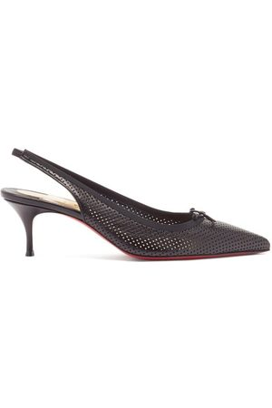 Christian Louboutin Hall Sling 55 Perforated-leather Slingback Pumps - Womens