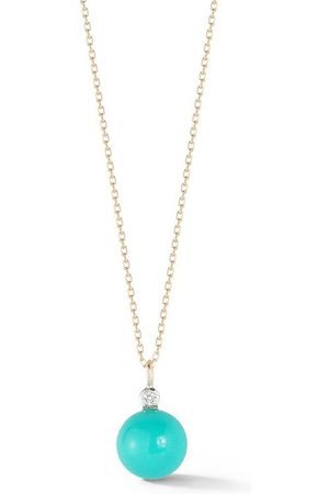 Mateo 14kt Turquoise and Diamond Dot Necklace