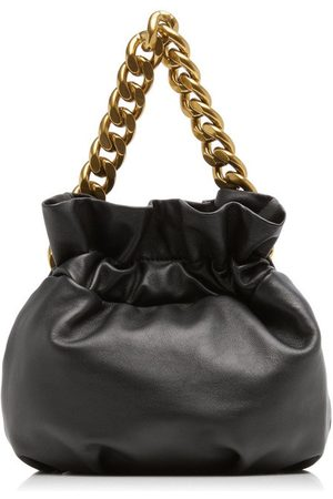 Staud Grace Chain-Trimmed Leather Clutch