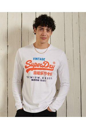 Superdry Vintage Logo Tri Long Sleeve Top
