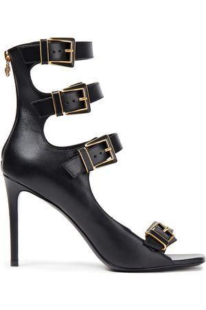 Balmain Woman Buckled Leather Sandals Size 35