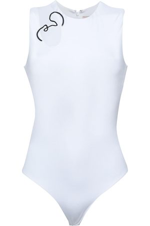 Cushnie Woman Cutout Embellished Stretch-jersey Bodysuit Size S
