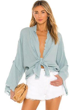 YFB CLOTHING Francesca Top in Blue.
