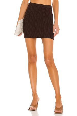 DANIELLE GUIZIO Cable Knit Mini Skirt in .