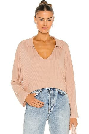 LnA Cropped Cape Top in Nude.