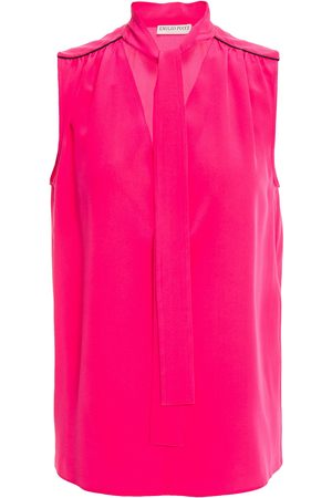 Emilio Pucci Woman Tie-neck Silk Top Fuchsia Size 38