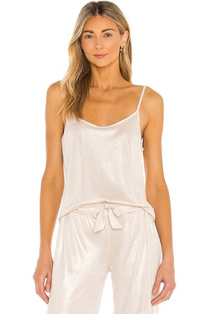 Mina Lisa Sparkle Knit Tank in Metallic Neutral.
