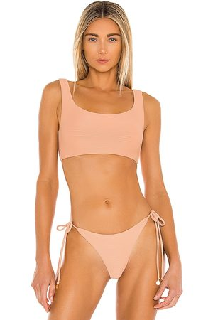 Nookie Savannah Square Neck Bikini Top in Blush.
