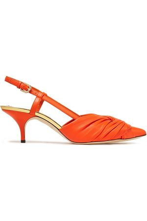 Emilio Pucci Woman Twisted Leather Slingback Pumps Size 36