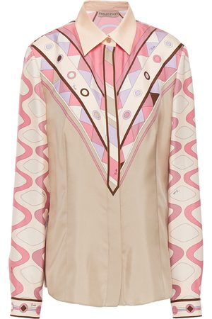 Emilio Pucci Woman Printed Silk-twill Shirt Size 38