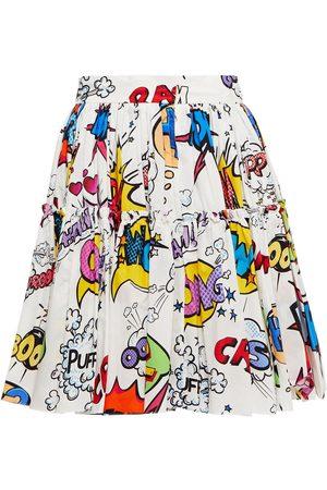 Dolce & Gabbana Woman Pleated Printed Cotton-poplin Mini Skirt Size 36