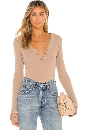Citizens of Humanity Scarlett Rib Henley in Nude.