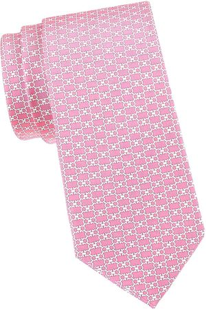 Salvatore Ferragamo Men's Double Gancini Silk Tie - Rosa
