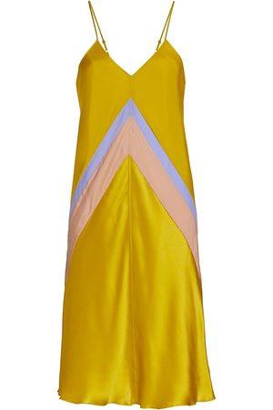 ATM Anthony Thomas Melillo Women's Bias-Cut Silk Slip Dress - Bakelite Combo - Size Small