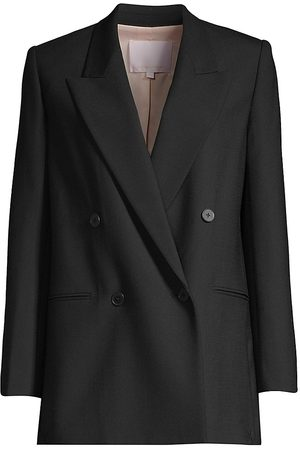 REBECCA TAYLOR Women's Cavalry Twill Double-Breasted Jacket - - Size 14