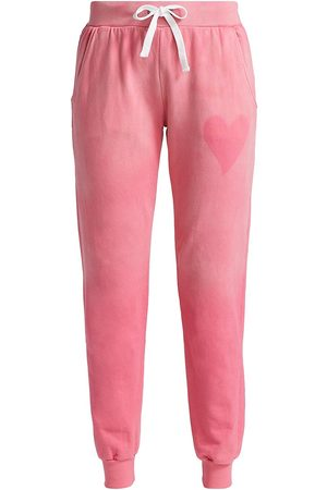 CHRLDR Women's Heart Stencil Sweatpants - Hot - Size Large