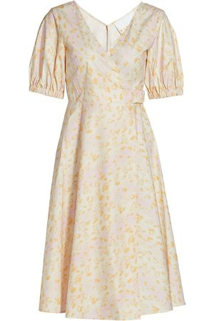REMAIN Birger Christensen Women's Juliette Leopard Puff-Sleeve A-Line Dress - Leopard - Size 0