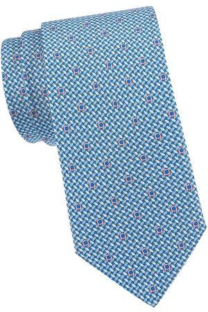 Salvatore Ferragamo Men's Gancini Woven Silk Tie - Bluette