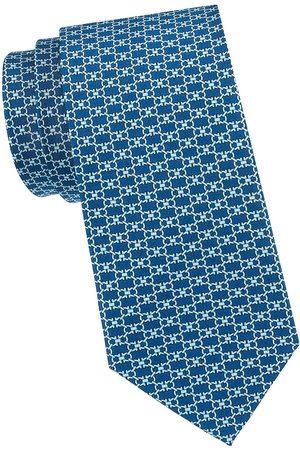 Salvatore Ferragamo Men's Double Gancini Silk Tie