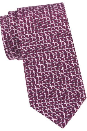 Salvatore Ferragamo Men Neckties - Men's Gancini Woven Silk Tie - Viola