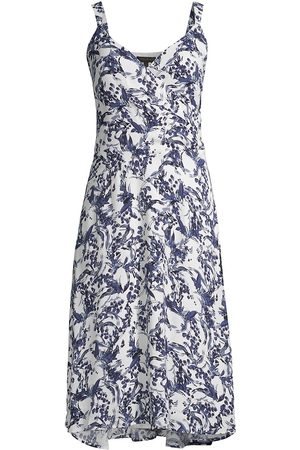 Donna Karan Women's Twiggy Floral A-Line Dress - Twiggy Floral - Size 6